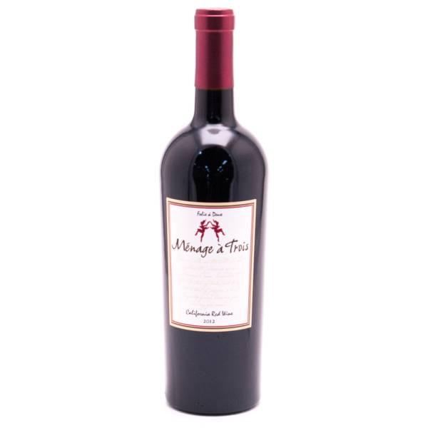 Menage a Trois California Red Wine 2012 750ml