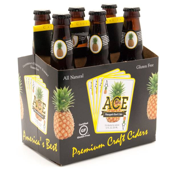 Ace Pineapple Hard Cider Gluten Free - 12oz - 6 Pack