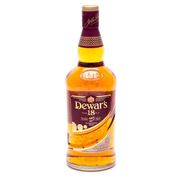 Dewar's 18 Years Old Double Aged Blended Scotch Whiskey - 40% ALC - 750ml