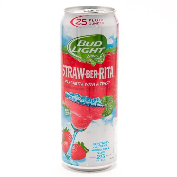 Bud Light Lime Straw-Ber-Rita Margarita 25oz