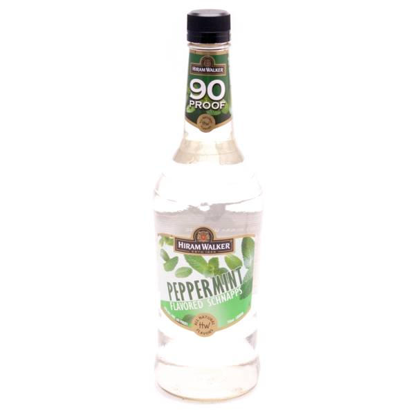 Hiram Walker Peppermint Flavored Schnapps 90 Proof 750ml