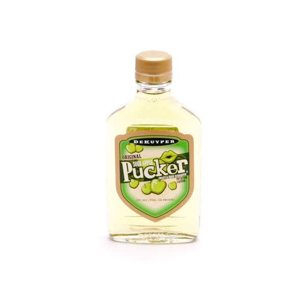 DeKuyper Sour Apple Pucker Sweet and Sour Schnapps - Imitation Liqueur - 30 Proof - 200ml