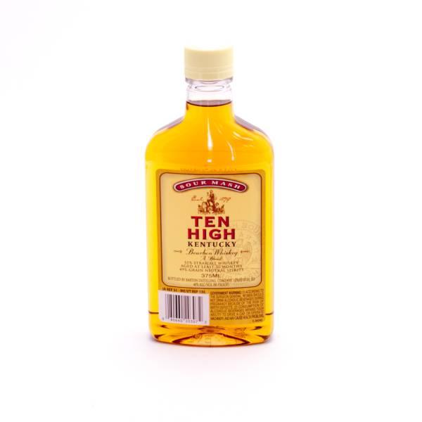 Sour Mash Ten High Bourbon Whiskey 80 Proof 375ml