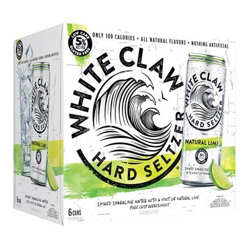 White Claw Lime Hard Seltzer - 6 pack cans