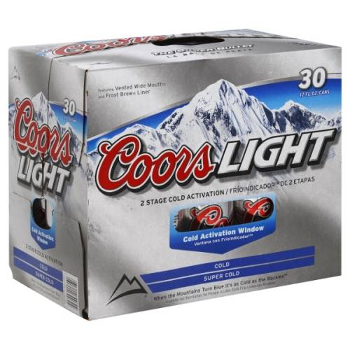 Coors Light 30 pack can