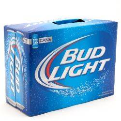 Bud Light 12 pack, 12 oz cans