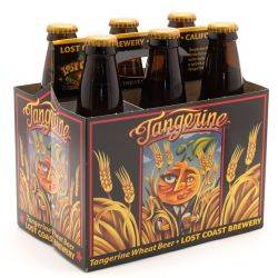 Lost Coast Tangerine Wheat Beer - 6 Pack