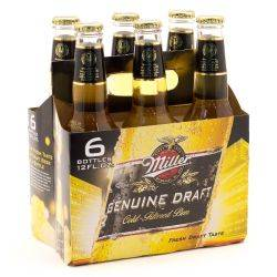 Miller Geniune Draft 6 pack bottle