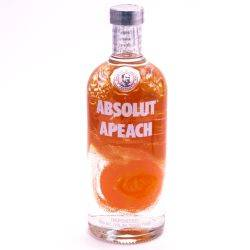 Absolut Peach Flavored Vodka 80 Proof...