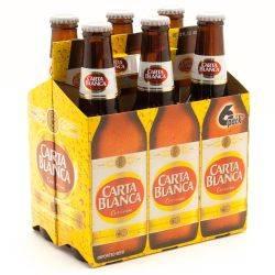 Carta Blanca Cerveza 6 Pack