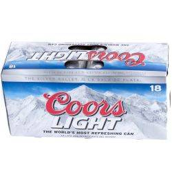 Coors Light - 18 pack case