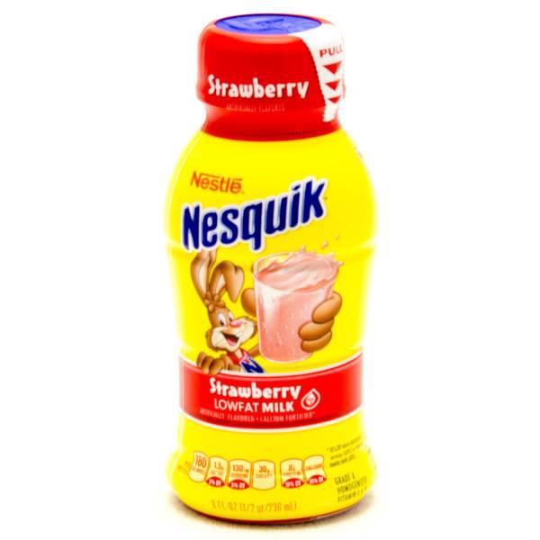 Nestle Nesquik Strawberry Milk Low Fat 8fl Oz Pikfly