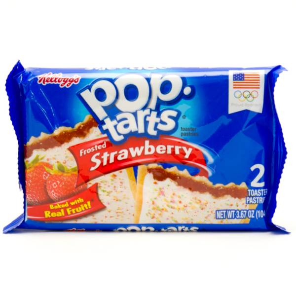 Pop-Tarts Frosted Strawberry Baked with Real Fruit 2 Toaster Pastries ...