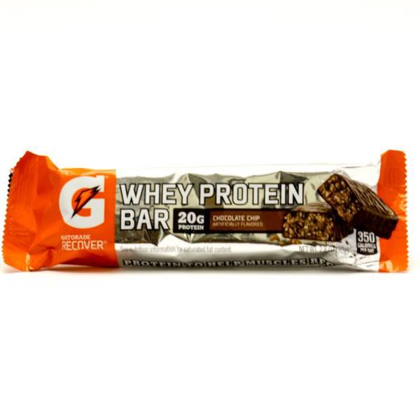 Gatorade Recover Whey Protein Bar 20g Protein Chocolate Chip 28oz