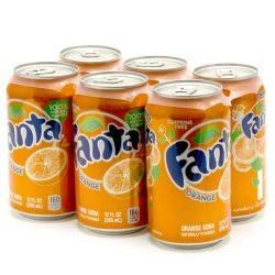 Fanta - Orange - 12oz Can - 6 Pack