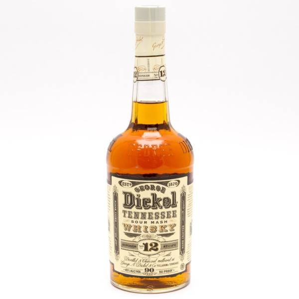 George Dickel Tennessee Sour Mash Whiskey Superior Recipe #12 750ml