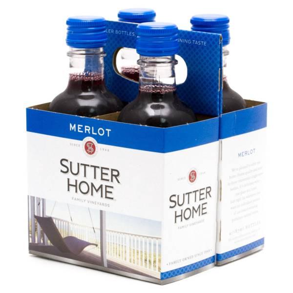 Sutter Home Merlot 4 Pack 187ml Bottles