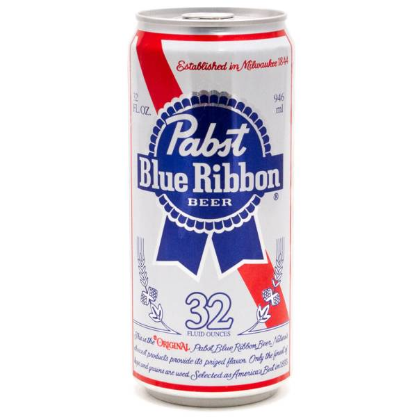 Pabst Blue Ribbon Beer 32oz