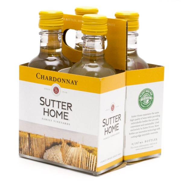 Sutter Home Chardonay 4 Pack 187ml Bottles