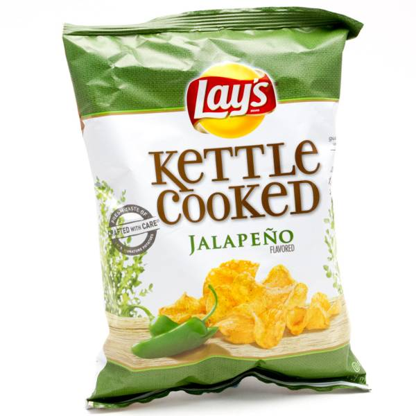 Lays Kettle Cooked Jalapeno Potato Chips 2 3/4oz