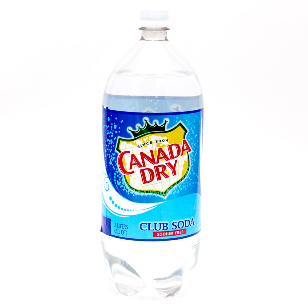 Canada Dry Club Soda 2L Bottle