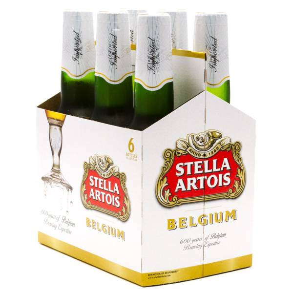 Stella Artois Belgium 6 Pack 12oz Bottles