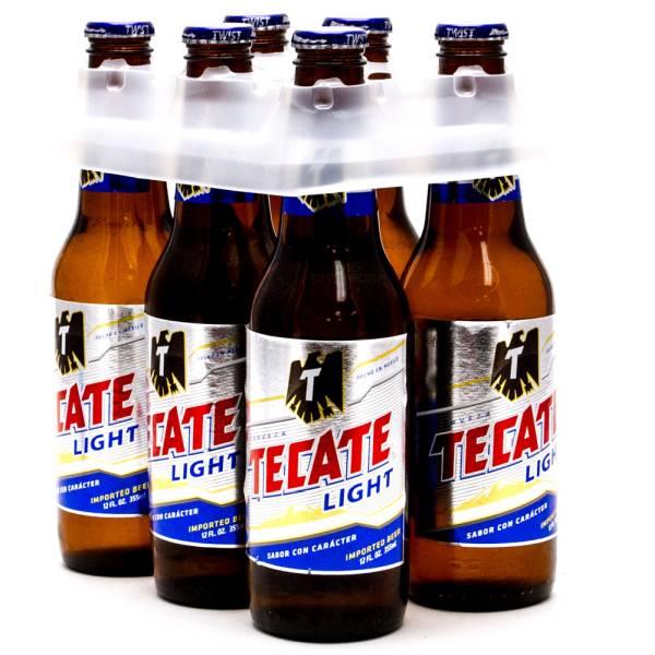 Tecate Light 6 Pack 12oz Bottles