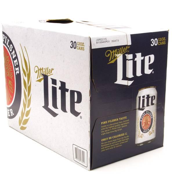 Miller Lite - 30 Pack - 12oz Cans