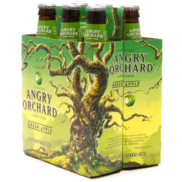 Angry Orchard Hard Cider Green Apple Gluten Free 6 Pack 12oz Bottles