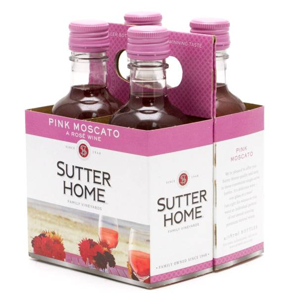 Sutter Home Pink Moscato A Rose Wine 4 Pack 187ml Bottles