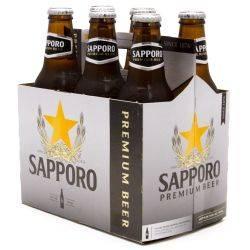 Sapporo Premium Beer 6 Pack 12oz Bottles