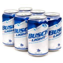 Busch Light 6 Pack 12oz Cans