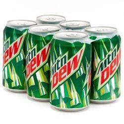 Mountain Dew - 6 pack - 12oz Cans
