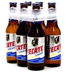 Tecate Light 6 Pack 12oz Bottles