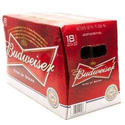 Budweiser 18 pack of 12 oz bottles.