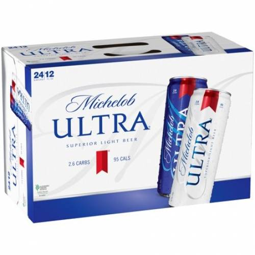 Michelob Ultra Light Beer, 24 Pack 12...