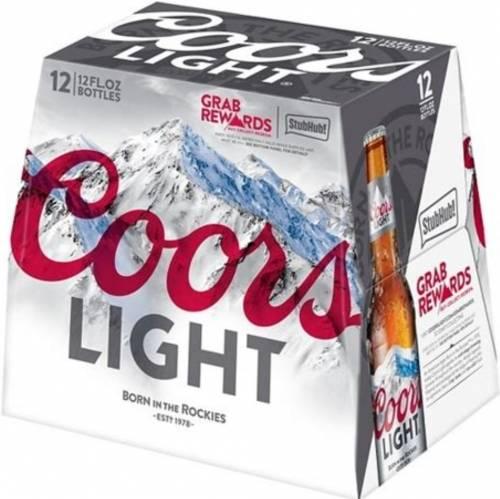 Coors Light 12 Pack 12oz Bottles